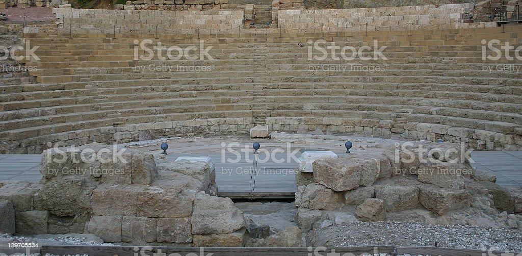 ROMAN AMPHITHEATRE royalty-free stock photo