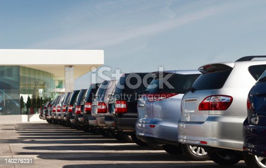All wheel drive vehicles in dealership