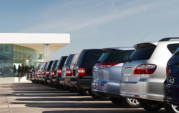 SUV All wheel drive vehicles in dealership showroom stock pictures, royalty-free photos & images