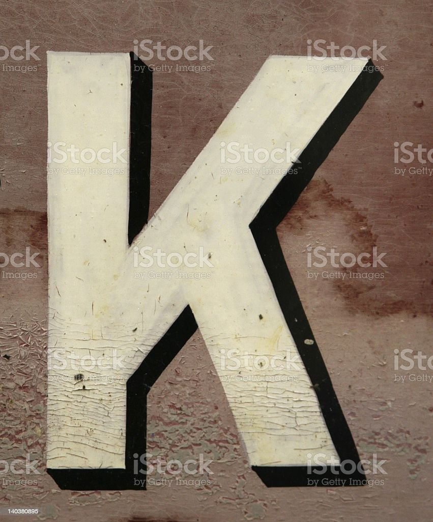K royalty-free stock photo