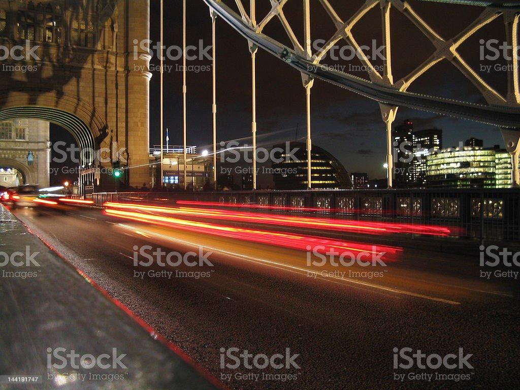 TOWER BRIDGE - NIGHTTIME royalty-free stock photo