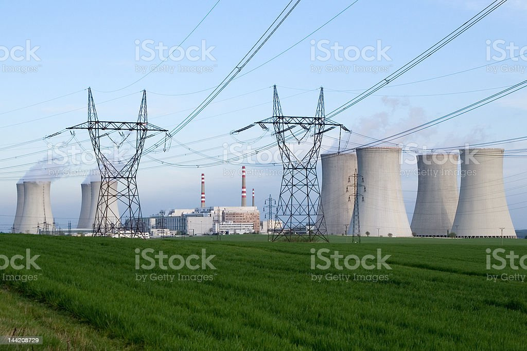NUCLEAR POWER royalty-free stock photo