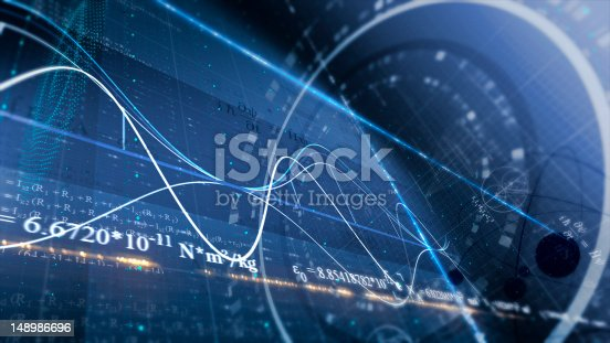 istock PHYSICS, SCIENCE. ABSTRACT BACKGROUND 148986696