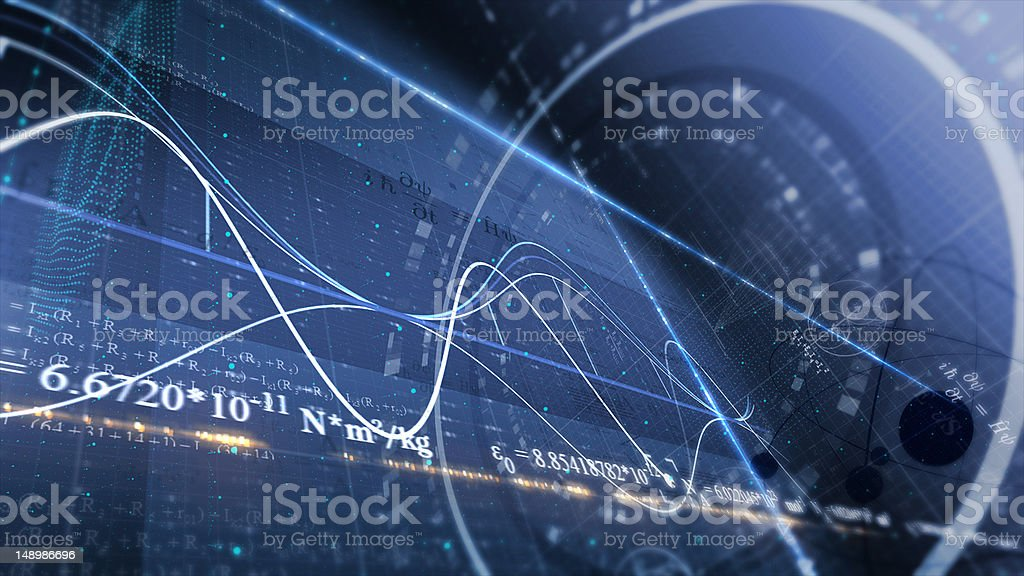 PHYSICS, SCIENCE. ABSTRACT BACKGROUND stock photo