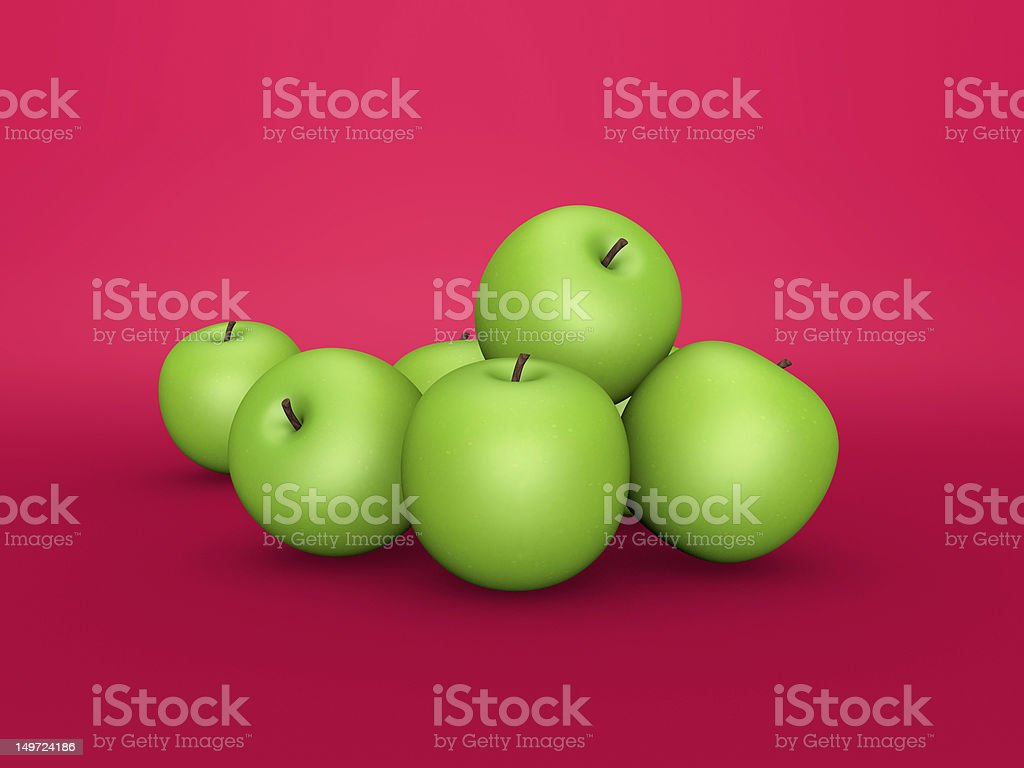 3D APPLES royalty-free stock photo