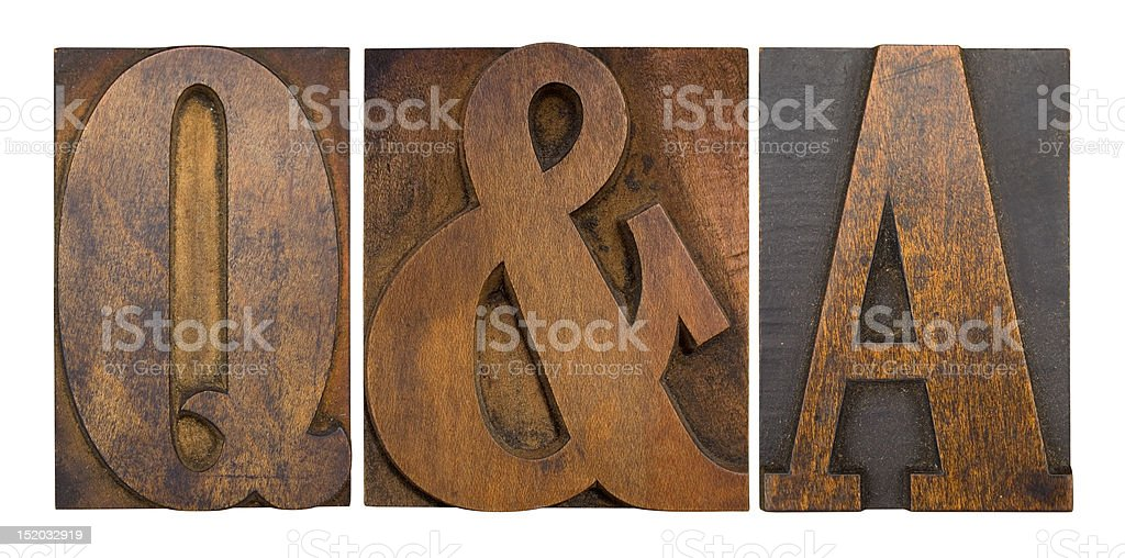 Q&A royalty-free stock photo