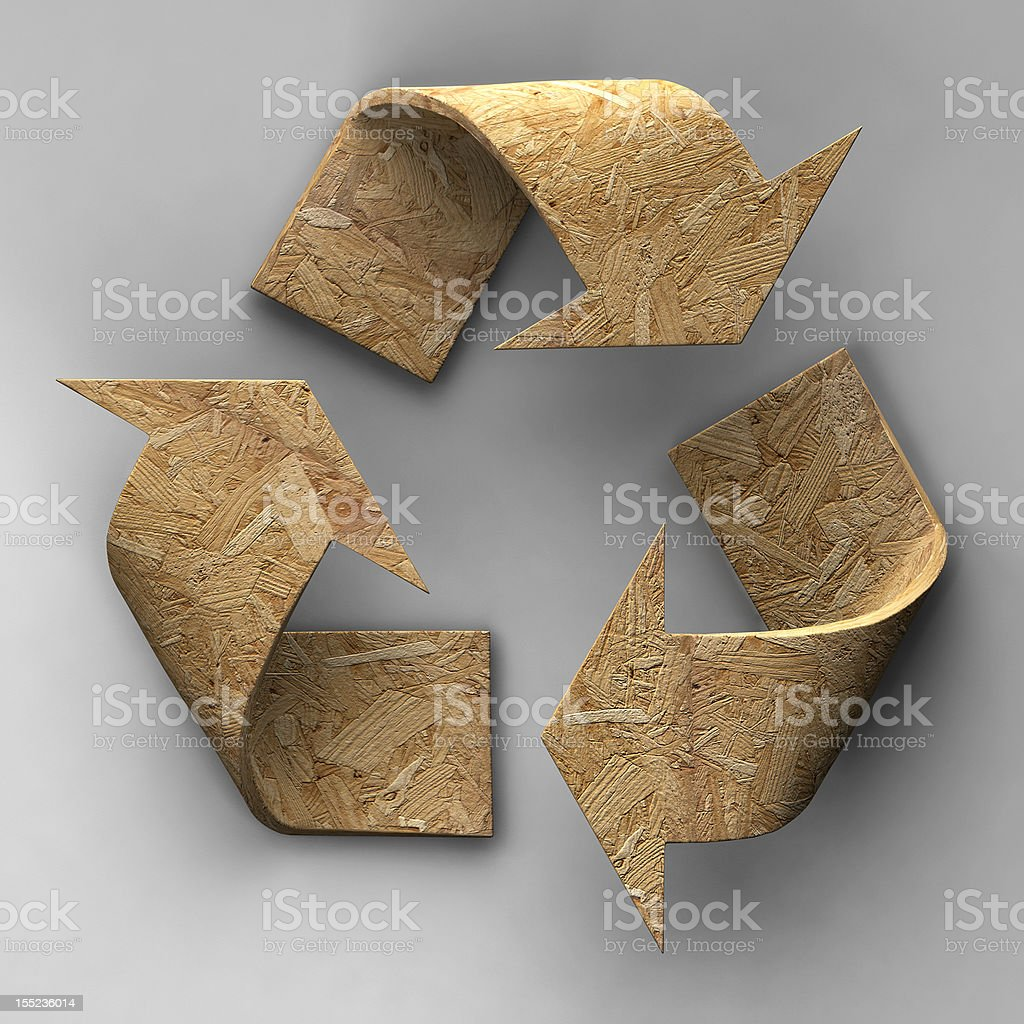 WOOD RECYCLING stock photo