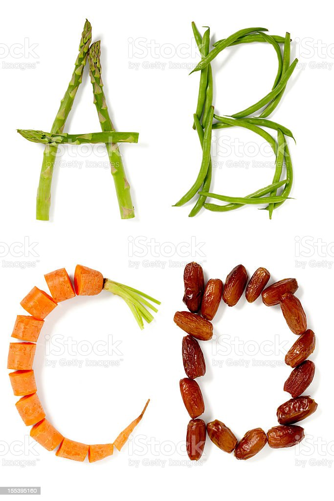 ABCD stock photo