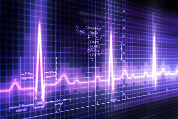ECG 3d Electrocardiogram  pulse trace stock pictures, royalty-free photos & images