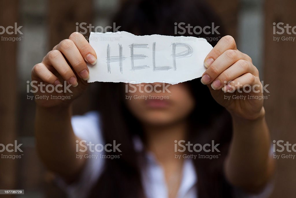 HELP royalty-free stock photo