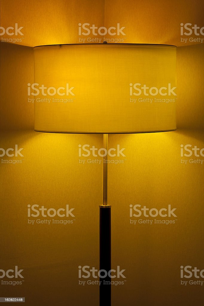 yellow lamp, long exposure of creative light painting royalty-free stock photo