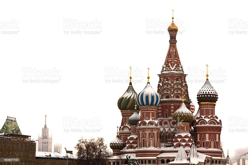 St. Basil's Cathedral, tourism travel destination royalty-free stock photo