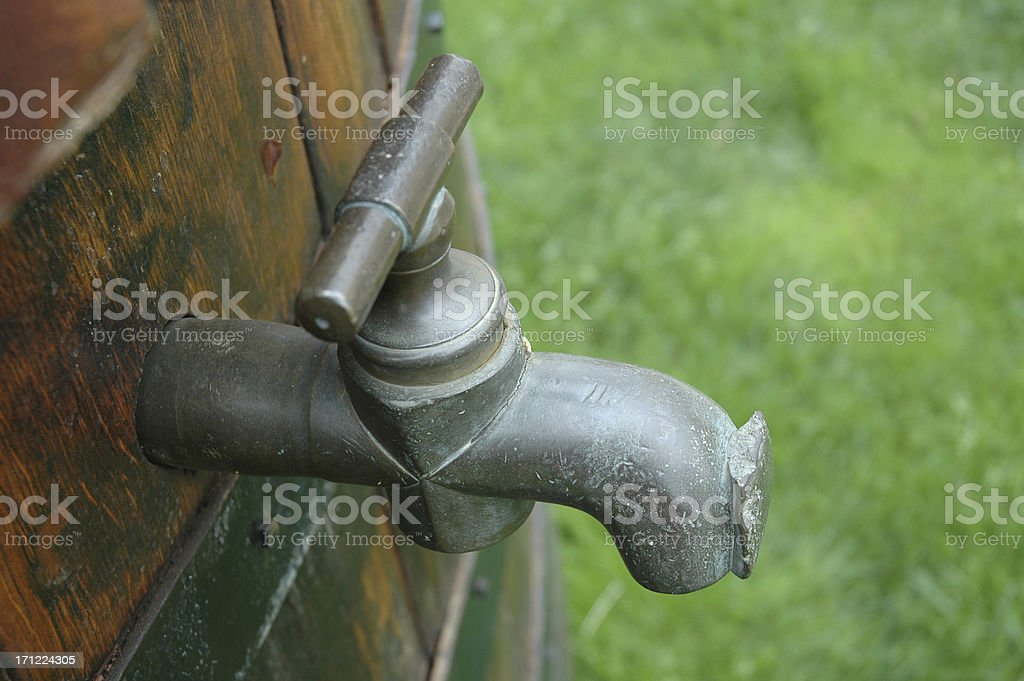 OLD WINE BARREL TAP royalty-free stock photo