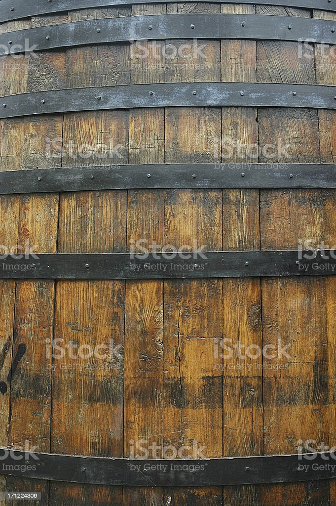 OLD WINE BARREL CLOSEUP royalty-free stock photo