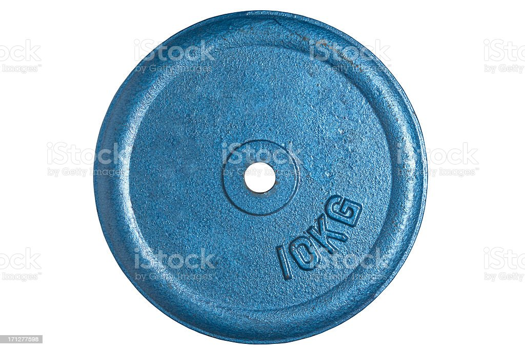 weight, cut out on white background stock photo