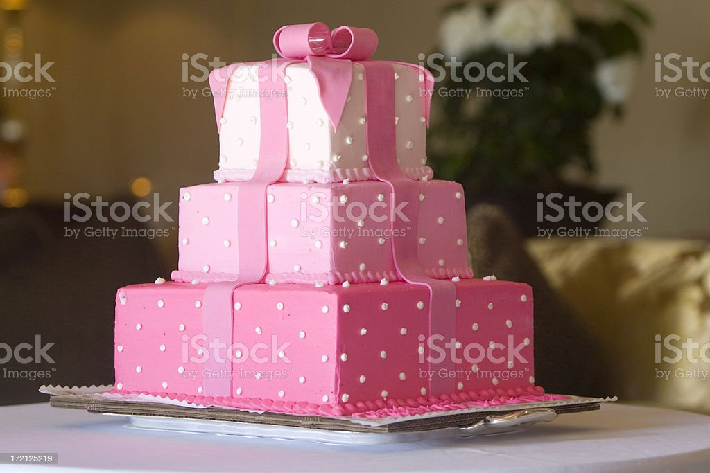FANCY PINK CAKE #1 stock photo