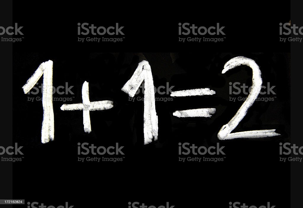 1+1=2 royalty-free stock photo