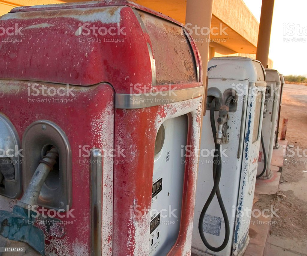 OLD GAS STATION royalty-free stock photo