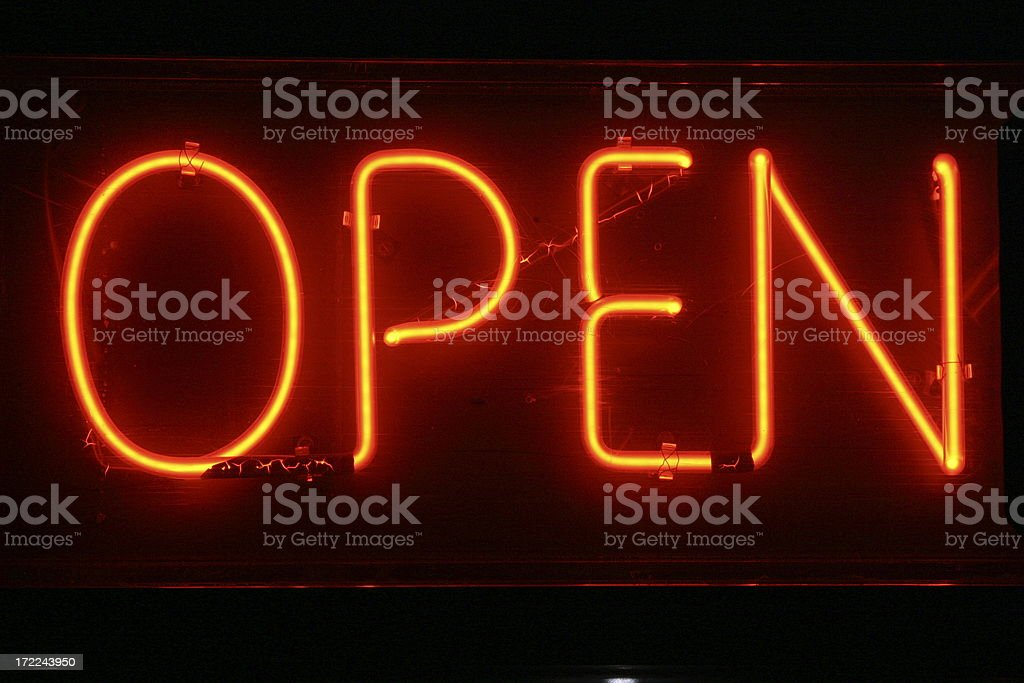 OPEN NEON SIGN royalty-free stock photo