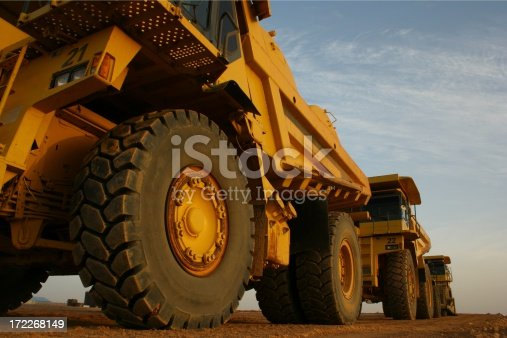 Mining Machines parked up on shift change.