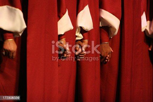 Hands of a choir.