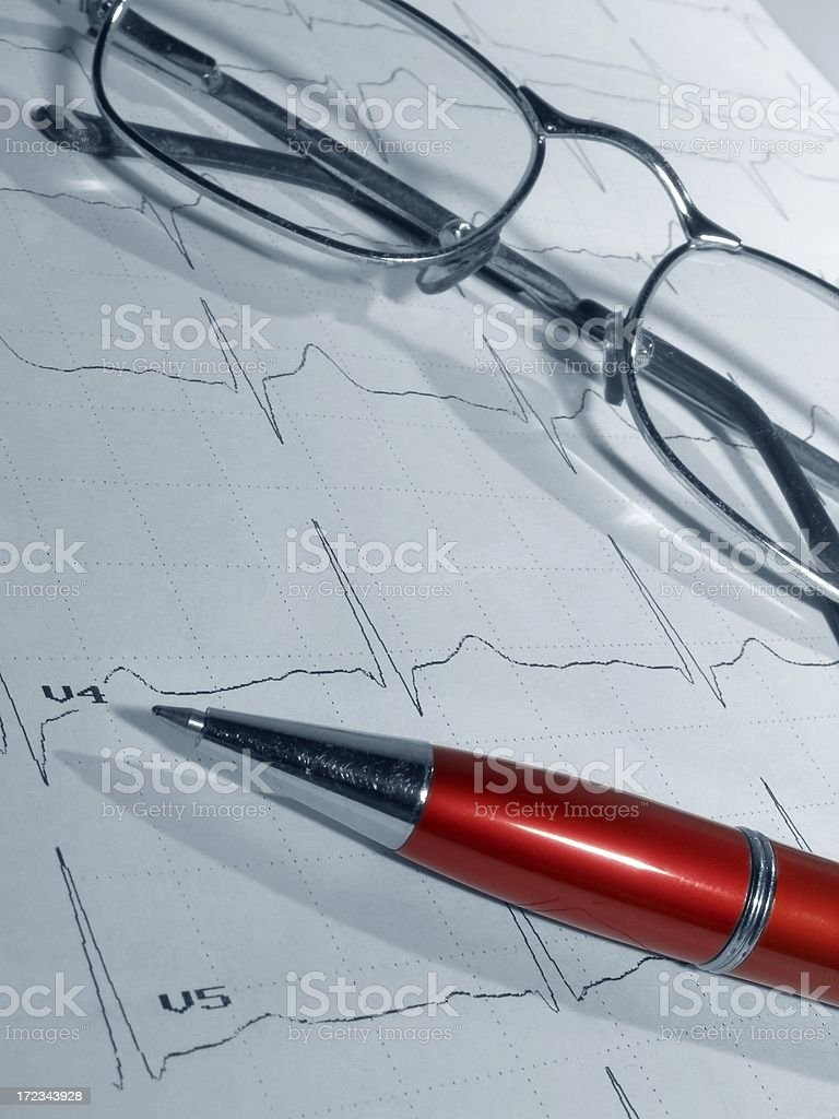 ECG royalty-free stock photo