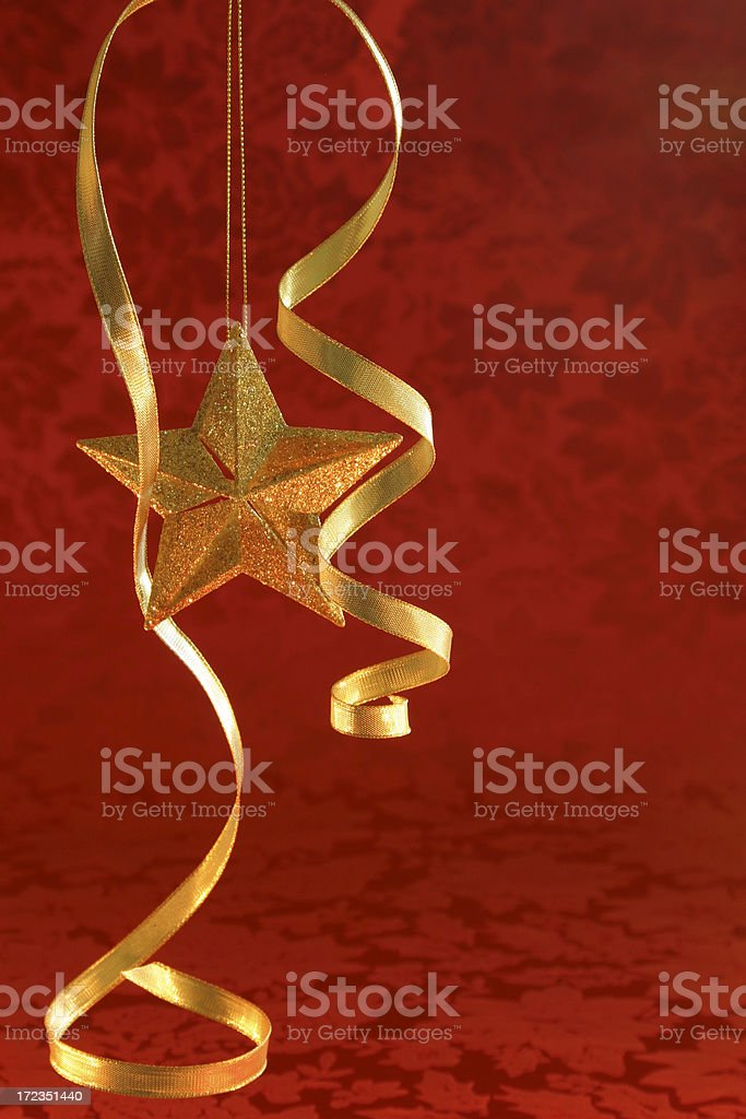 CHRISTMAS STAR (vertical with copyspace) royalty-free stock photo