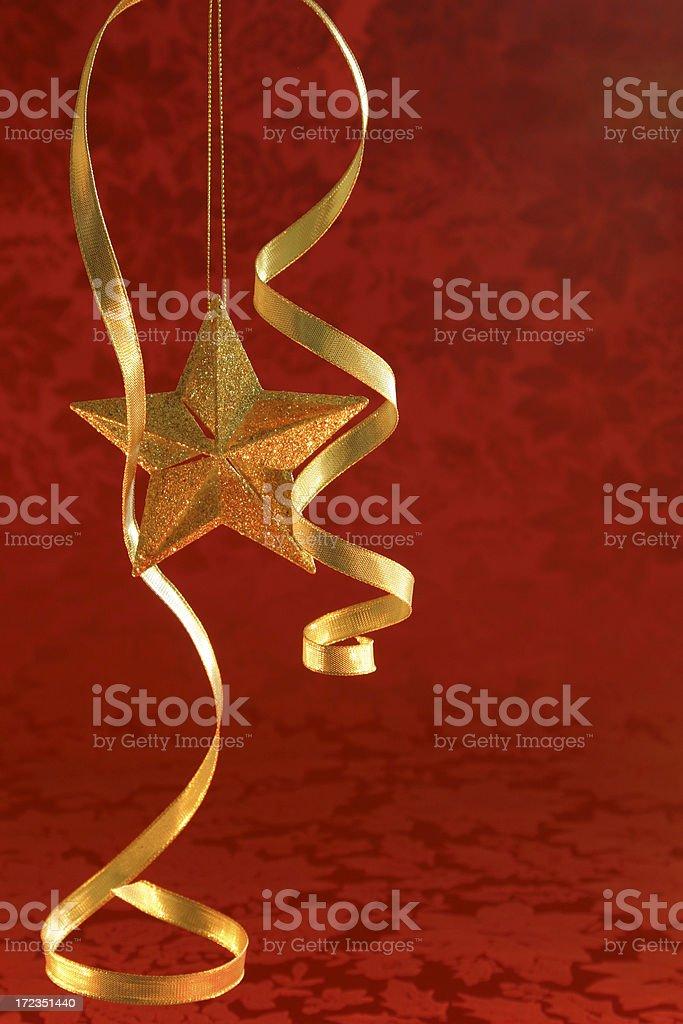 Estrella Navidad con copyspace (vertical foto de stock libre de derechos