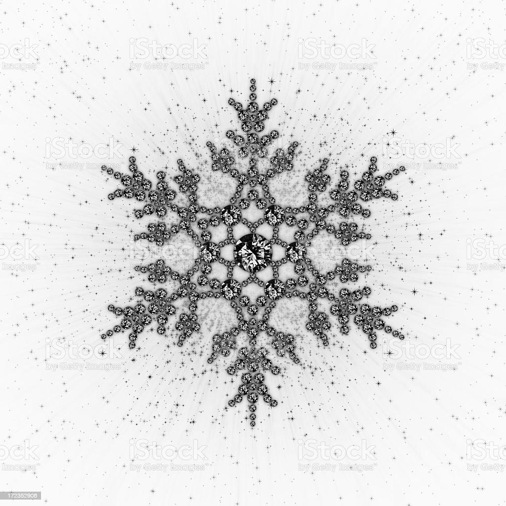 BLACK DIAMOND SNOW stock photo