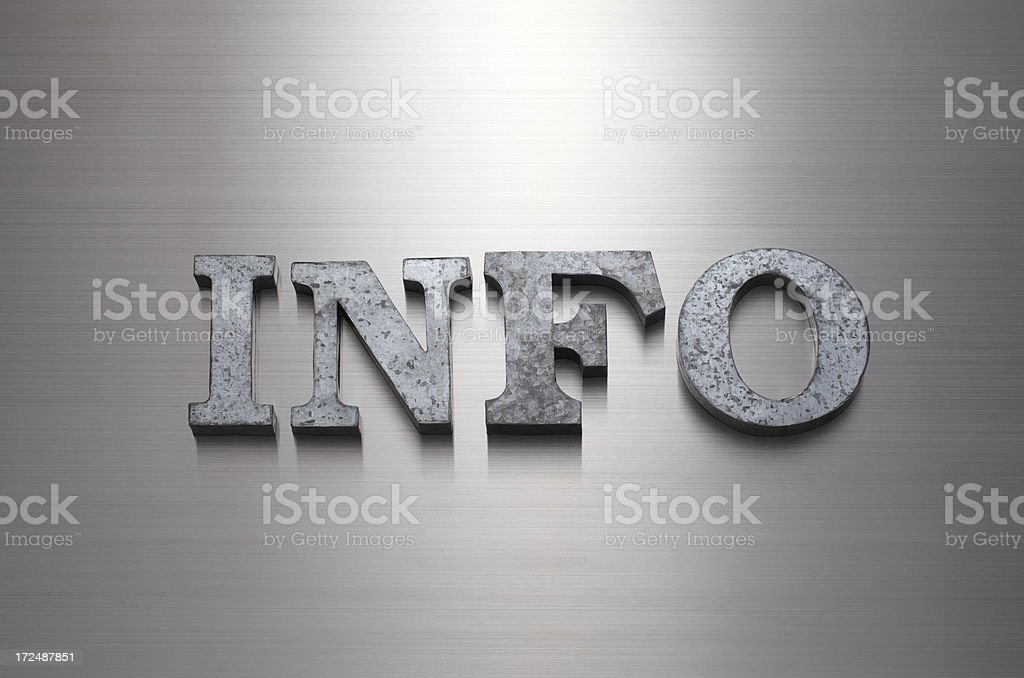 INFO royalty-free stock photo