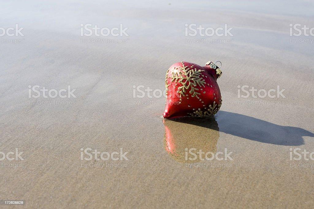 ORNAMENT ON BEACH stock photo