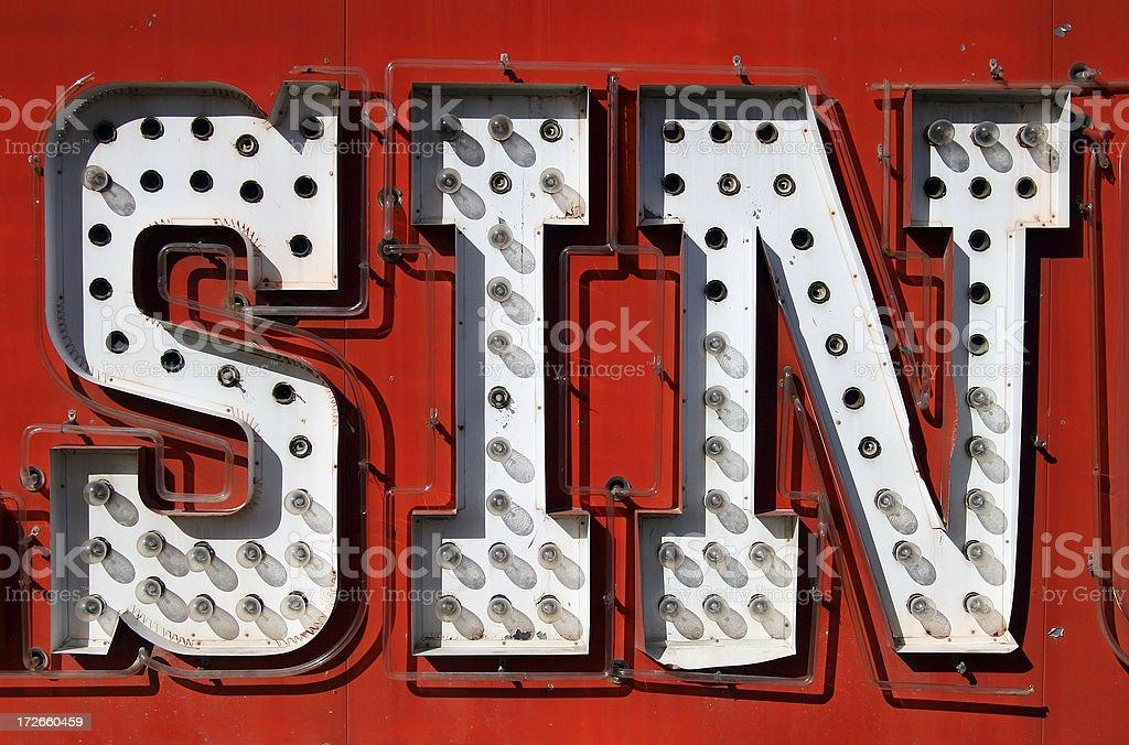 SIN stock photo