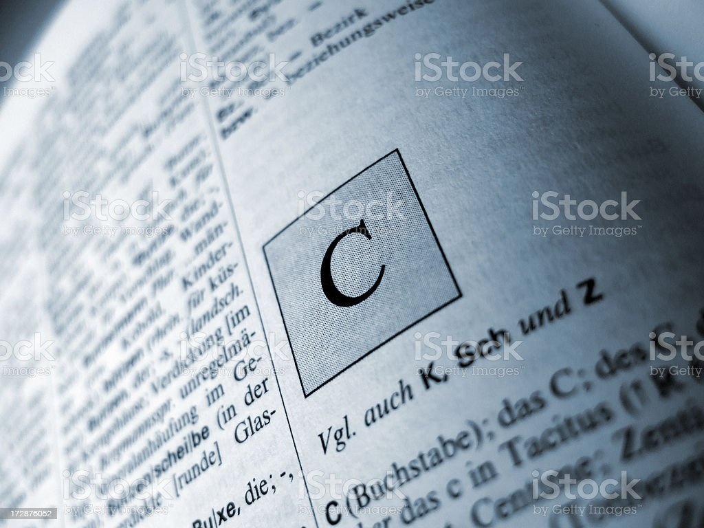 C (letter) royalty-free stock photo