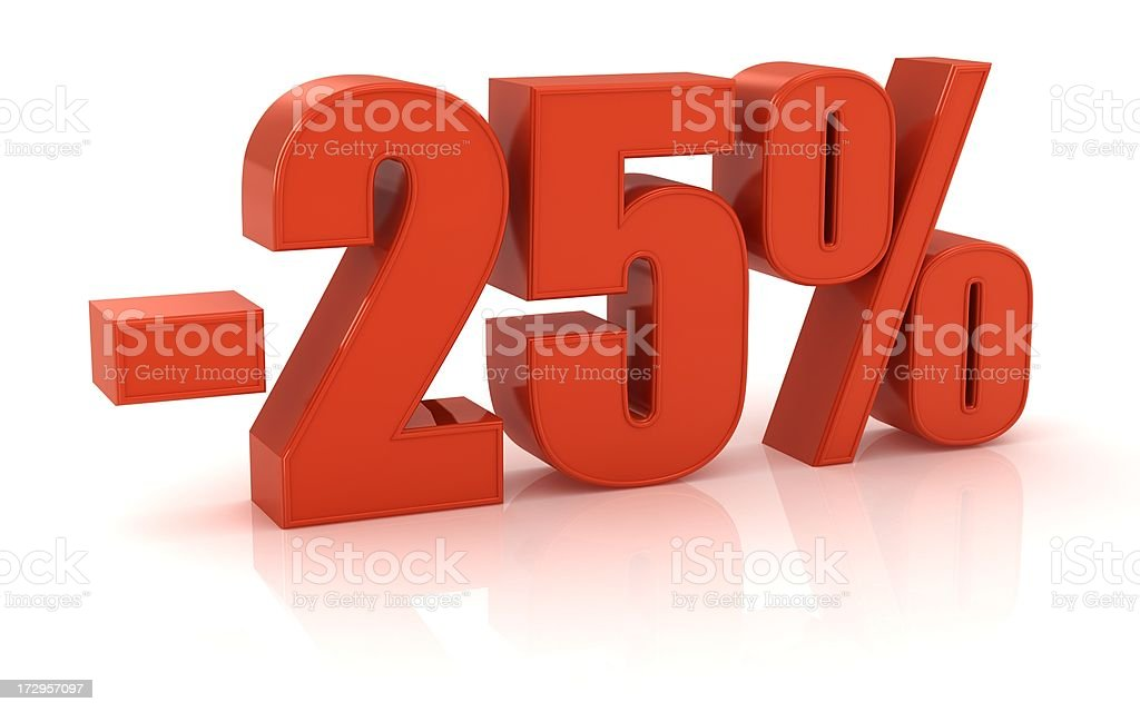 -25% royalty-free stock photo