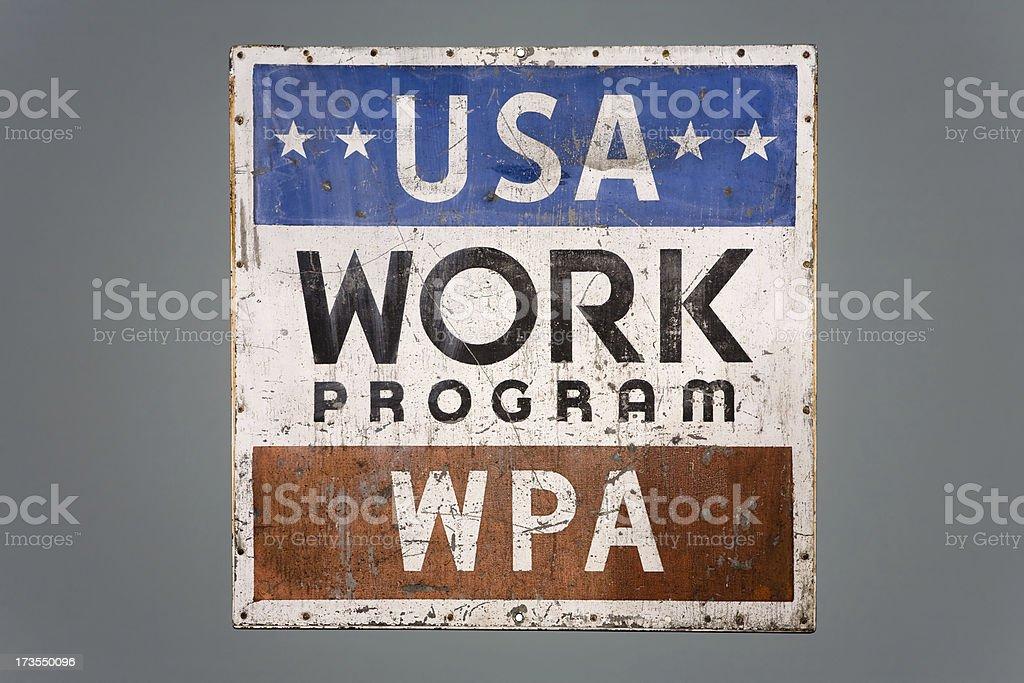 WPA stock photo