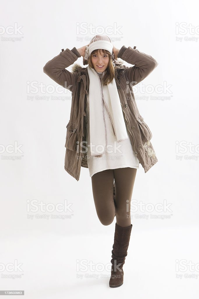 WINTER WOMAN stock photo
