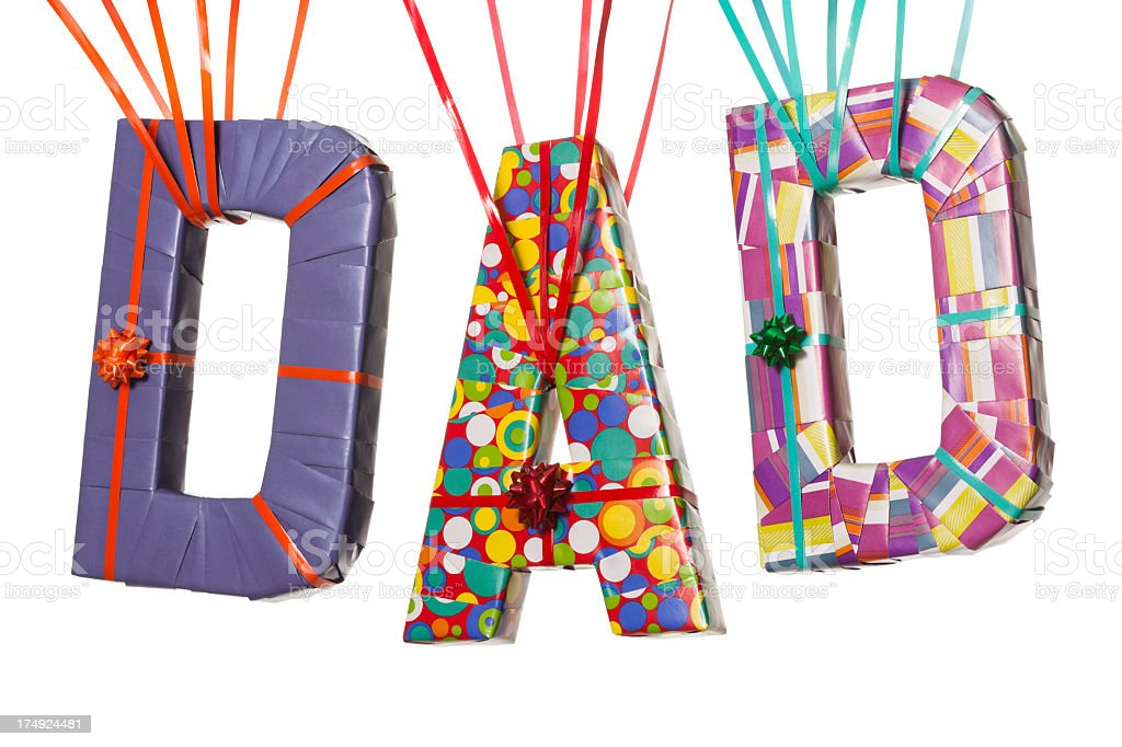 GIFT FOR DAD royalty-free stock photo