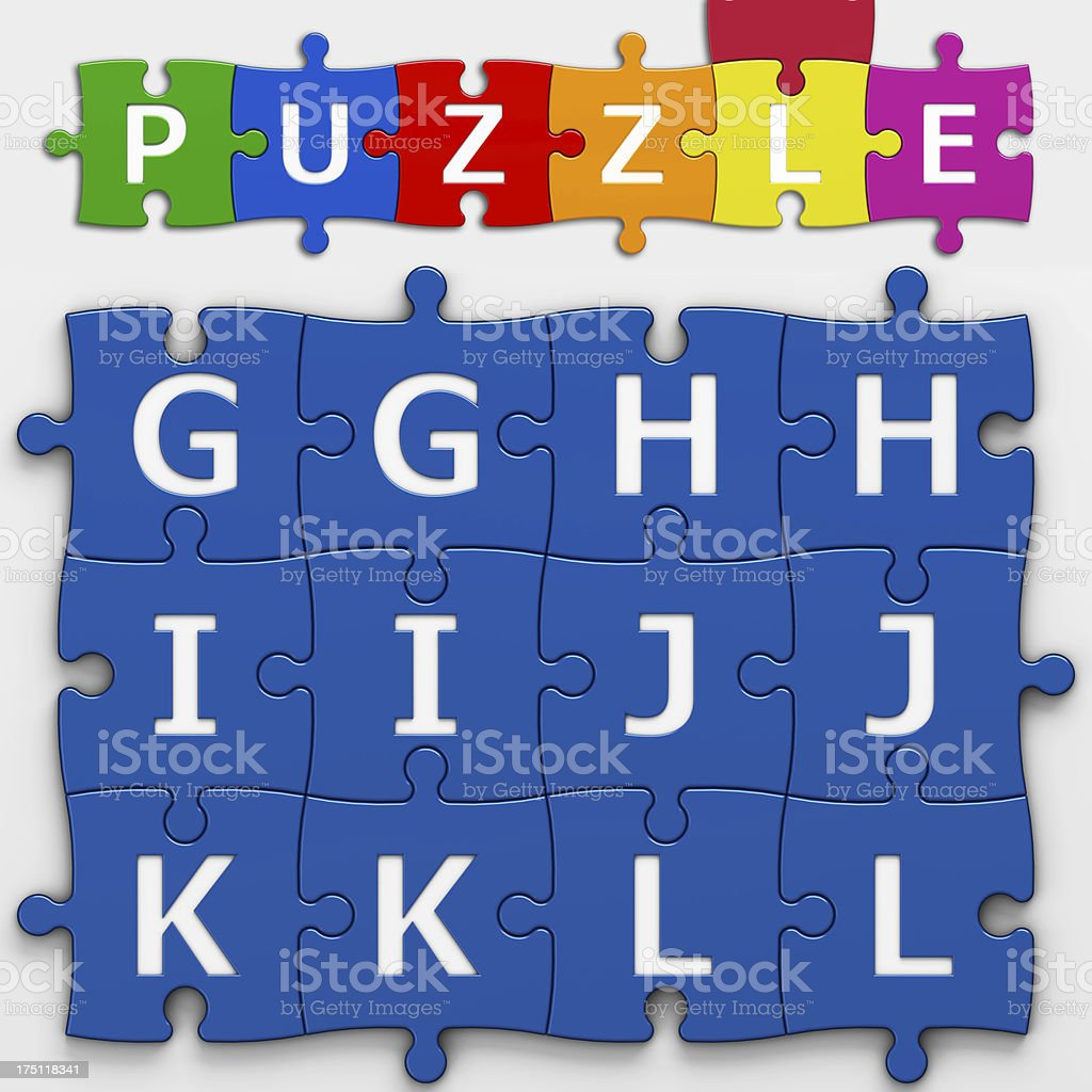 LETTERS PUZZLE (with clipping path) royalty-free stock photo