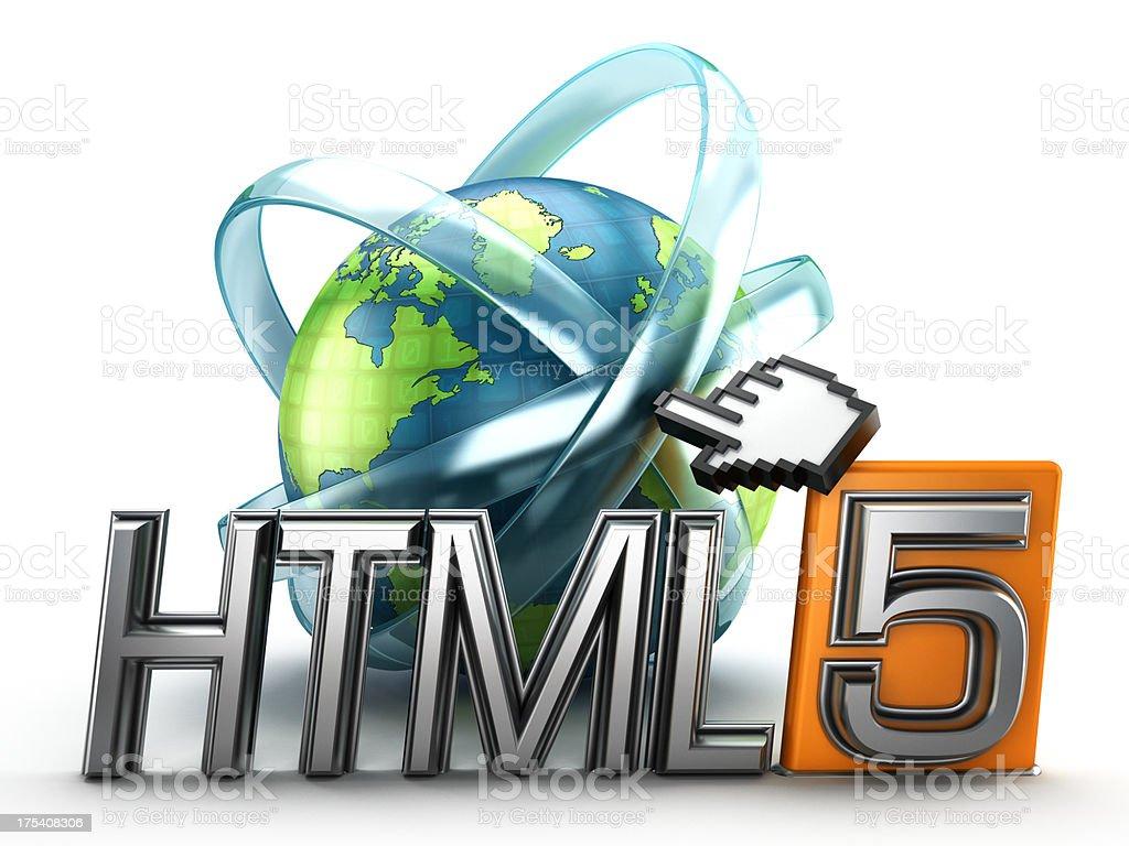 HTML 5 royalty-free stock photo