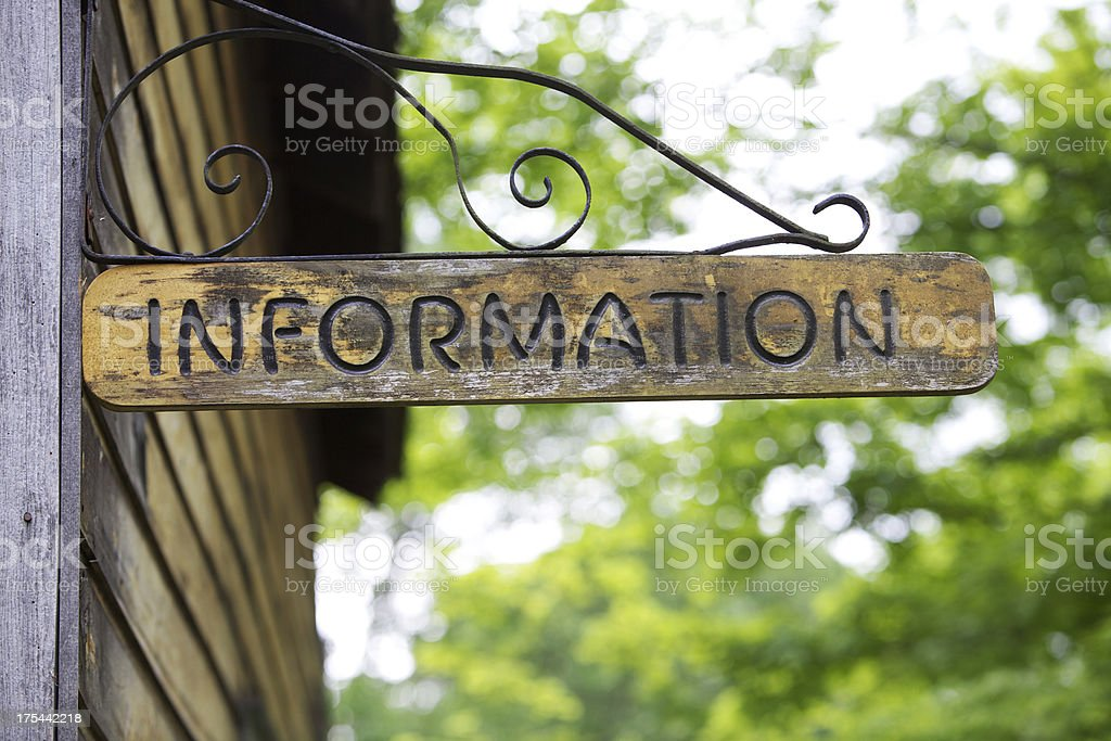 INFORMATION royalty-free stock photo