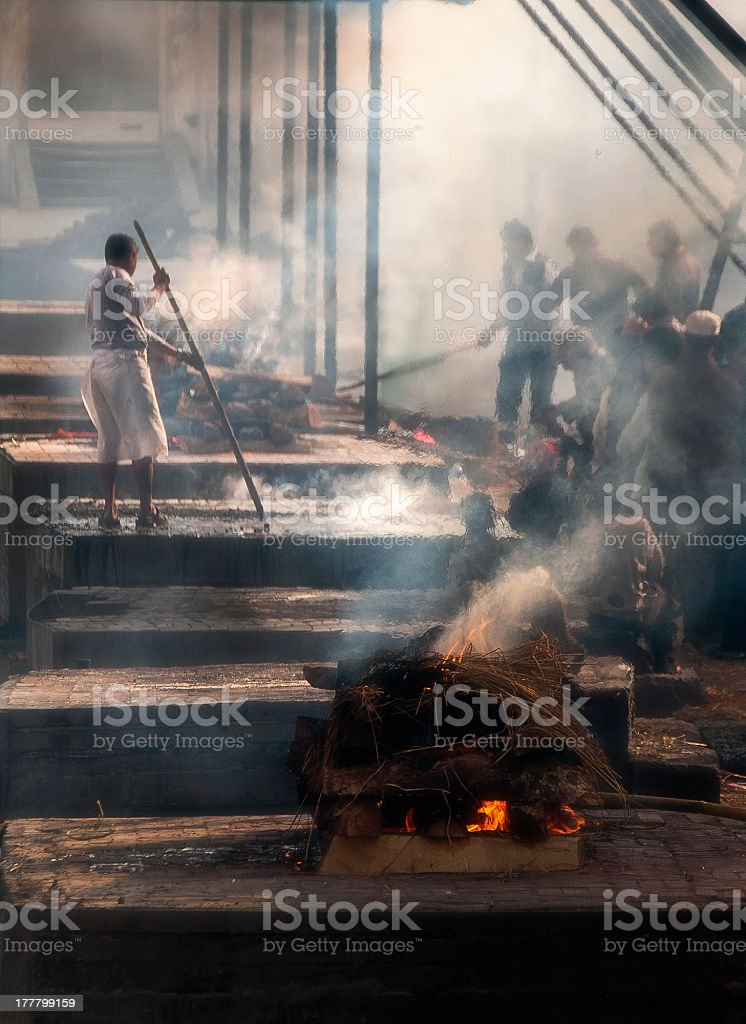 CREMATION CEREMONY stock photo