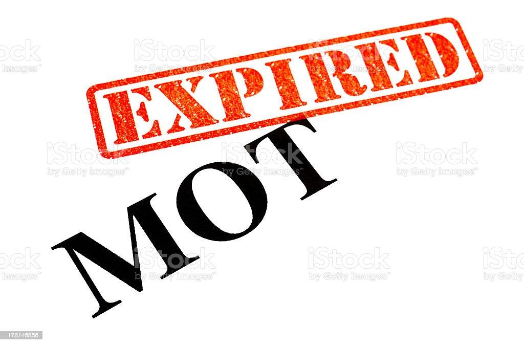 MOT EXPIRED stock photo
