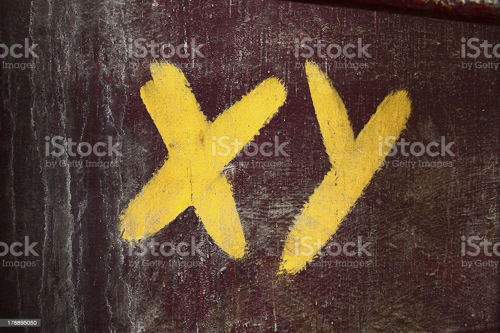 XY royalty-free stock photo