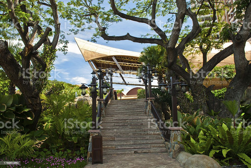 MODERN LUXURY HOTELS AT SEASHORE royalty-free stock photo