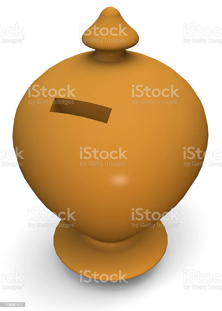 COIN BANK - 3D royalty-free stock photo
