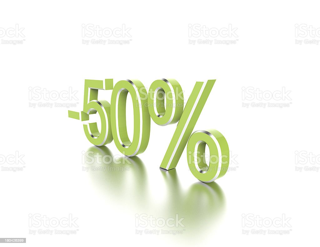 -50% royalty-free stock photo