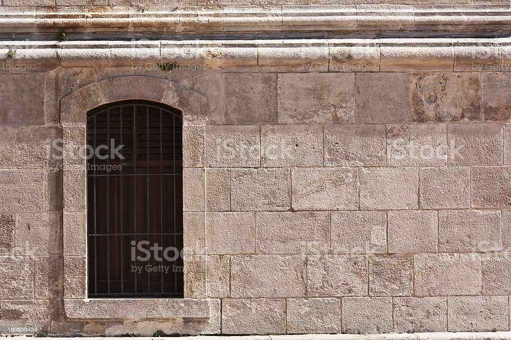 vintage window, architecture of building exterior royalty-free stock photo