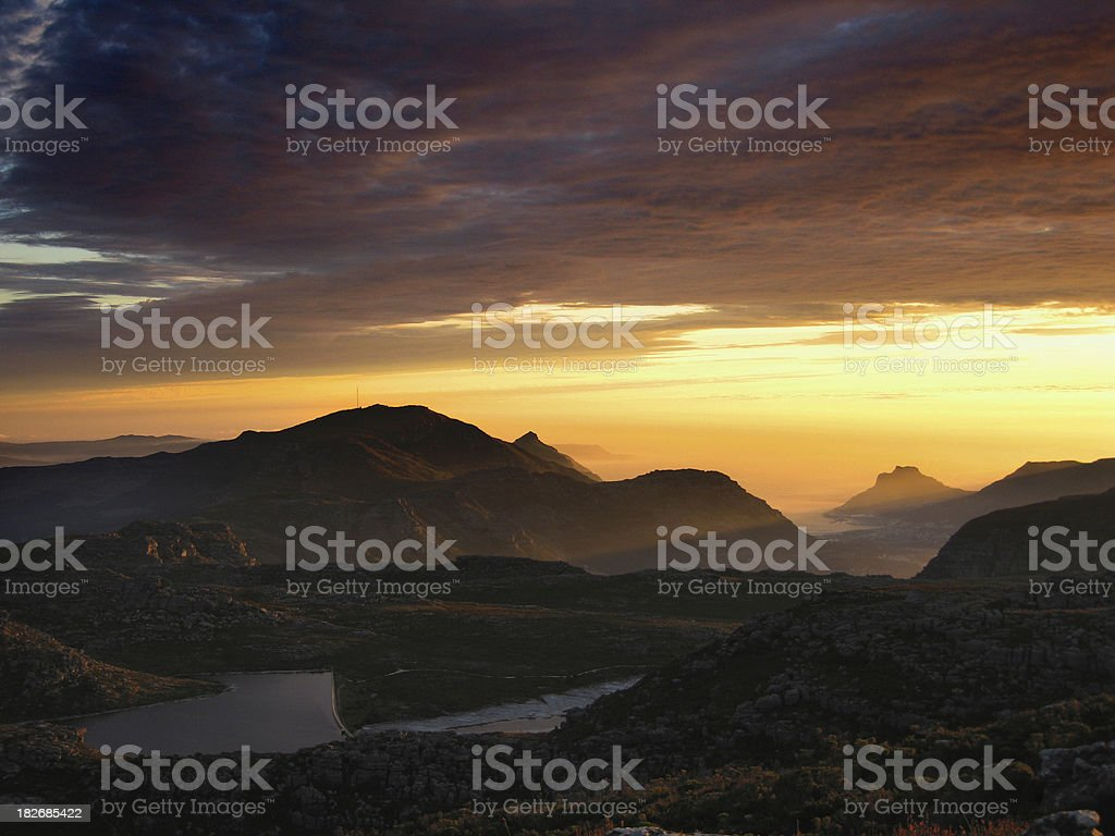 SUNSET OVER HOUT BAY royalty-free stock photo