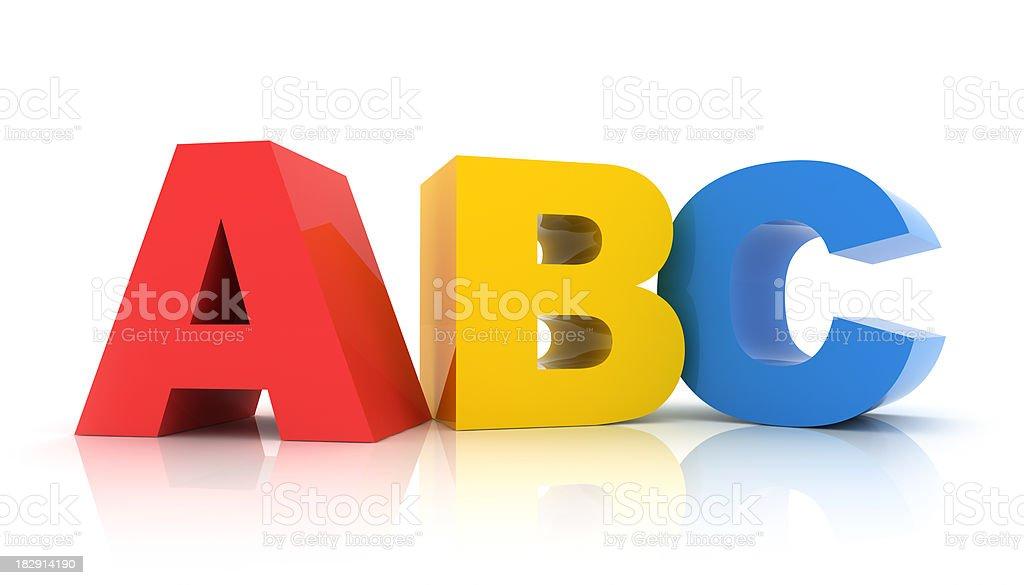 ABC stock photo