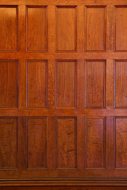 oak panel - wood paneling stock photos and pictures